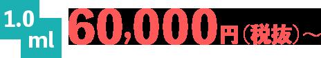 1.0ml 60,000円(税抜)~